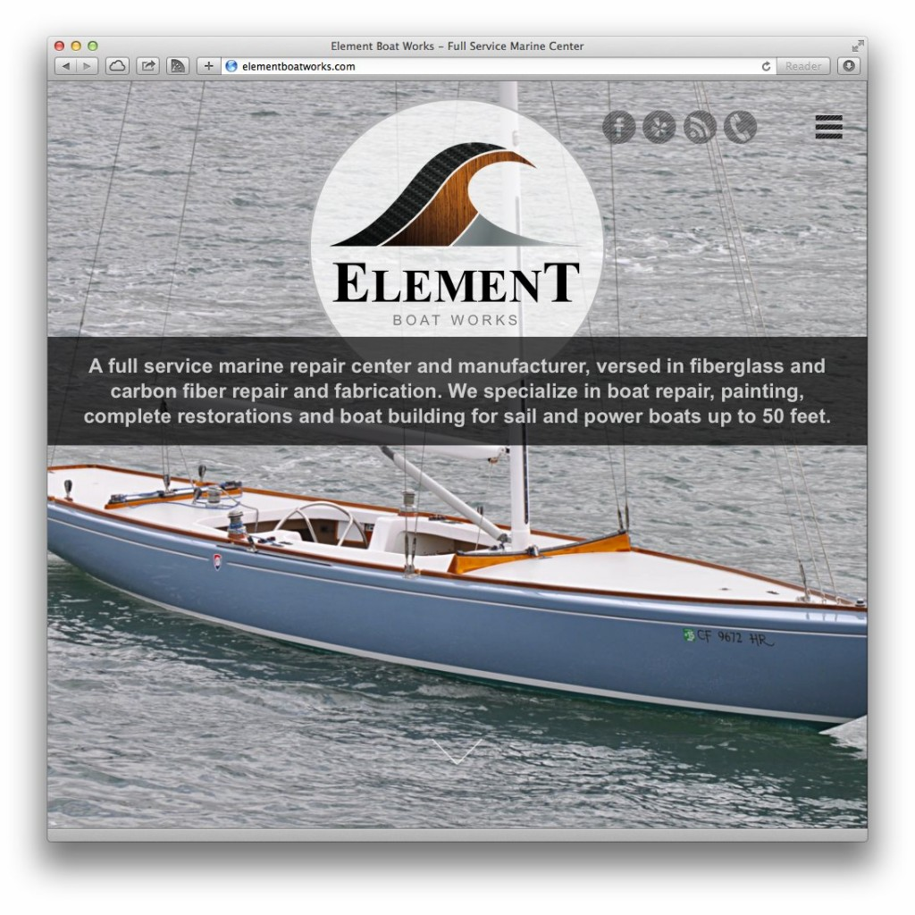 Element Boat Works - Front Page