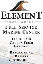 An example of a banner ad for Element Boat Works